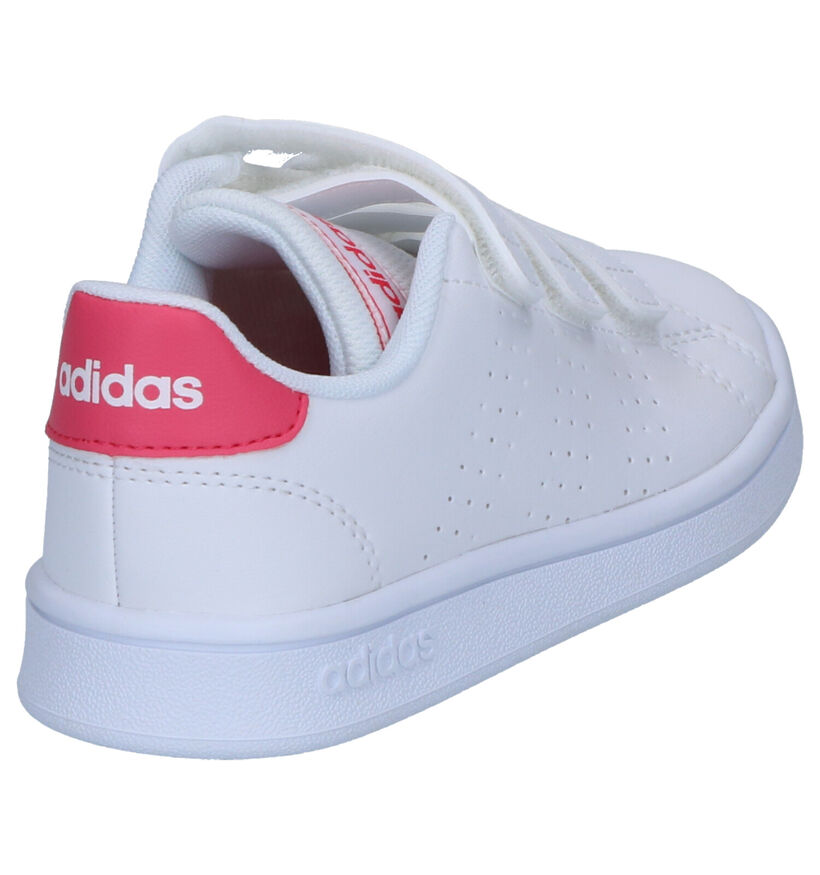 adidas Advantage Witte Sneakers , Wit, pdp