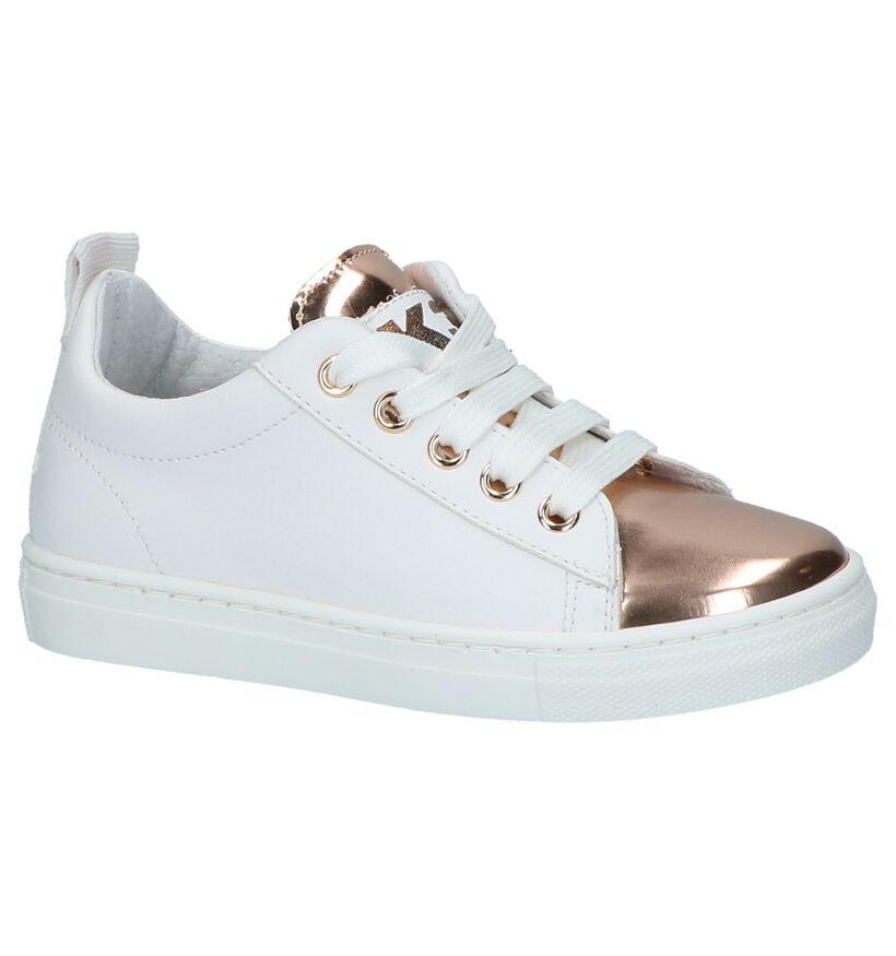Witte Sneakers Rits/Veter K3 by Torfs in lakleer (213084)