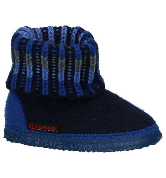 Giesswein Kronau Donkerblauwe Wollen Pantoffels