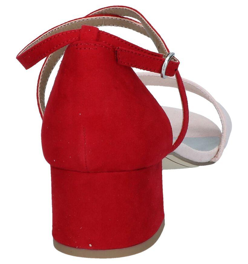 Rood/Roze Sandalen Tamaris in stof (244212)