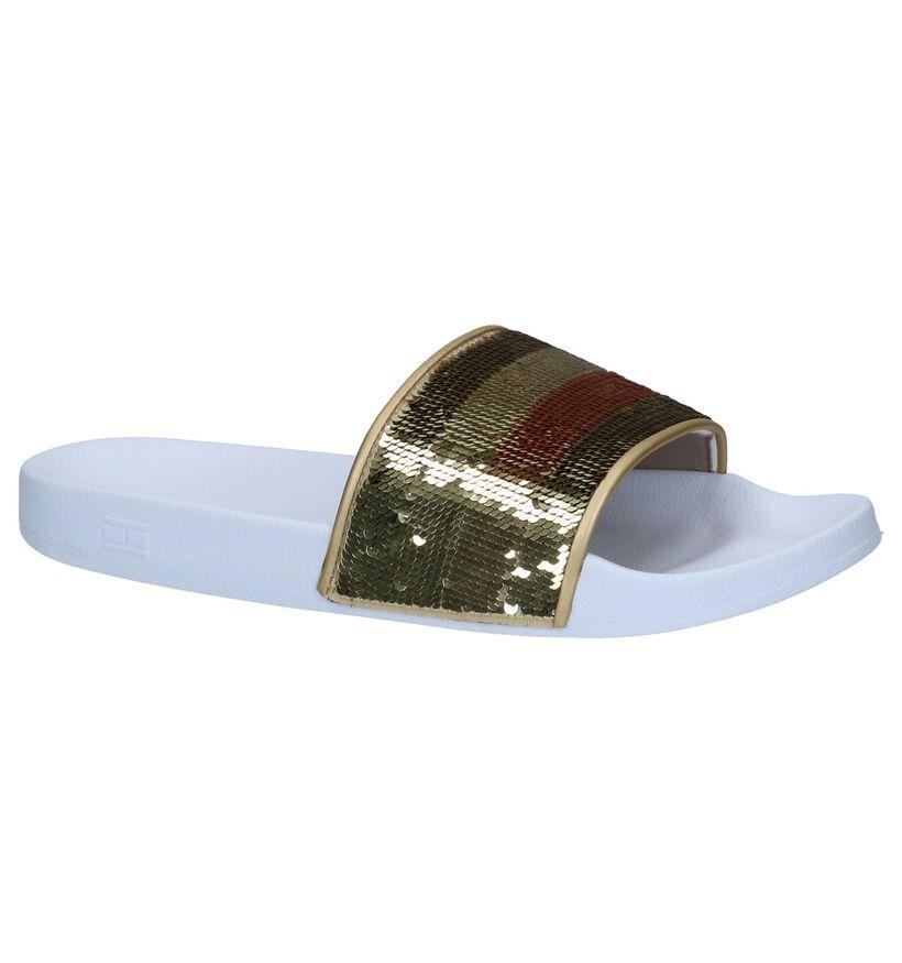 Donkerblauwe Slippers met Pailletten Tommy Hilfiger in kunststof (237439)