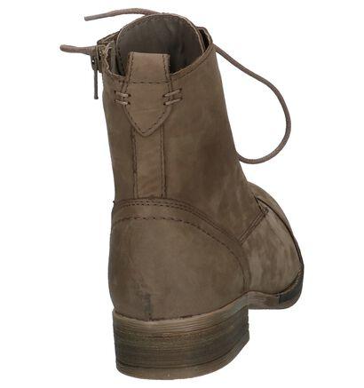 Zwarte Hoge Schoenen met Rits/Veter Poelman Gasolina, Taupe, pdp