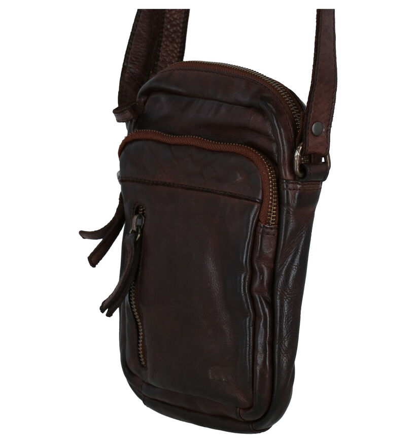 Bear Design Zwarte Crossbody Tas in leer (283608)