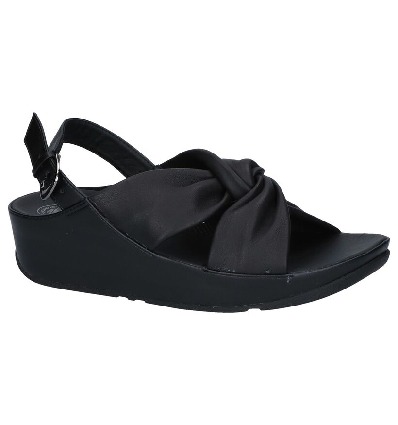 Zwarte Sandalen FitFlop Twiss in leer (240184)
