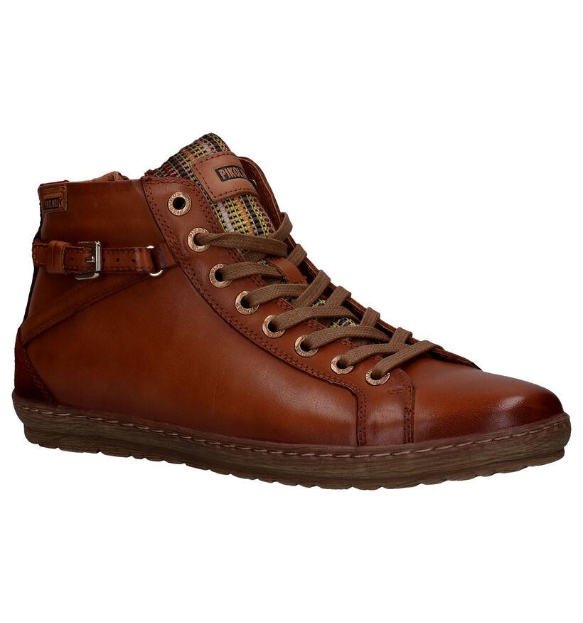 Pikolinos Lagos Cognac Boots in leer (261457)