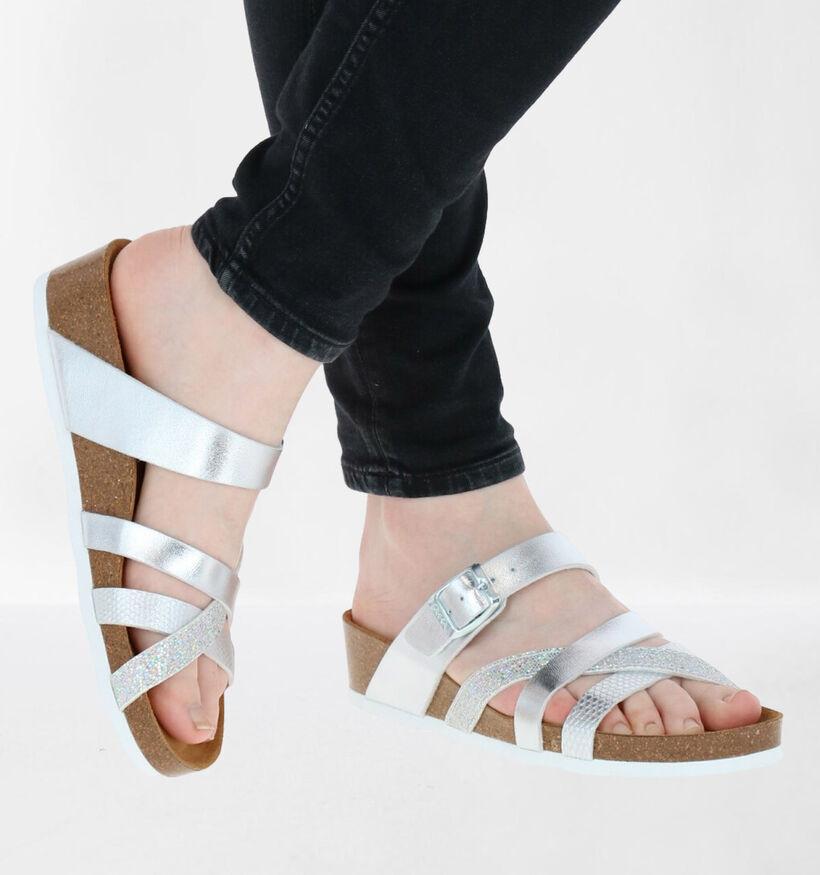 Ara Bali Zilveren Slippers in kunstleer (284441)
