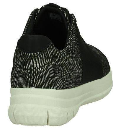 FitFlop Sporty-Pop Zwarte Comfortabele Veterschoenen, Zwart, pdp