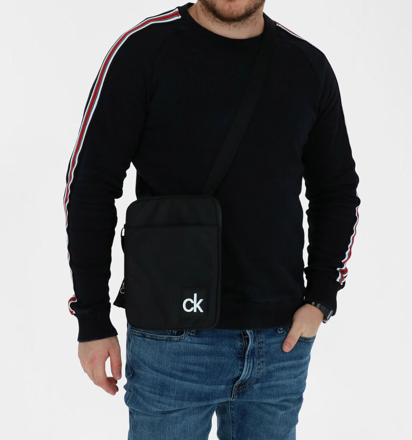 Calvin Klein Accessories Flat Pack Zwarte Crossbody Tas in stof (280460)