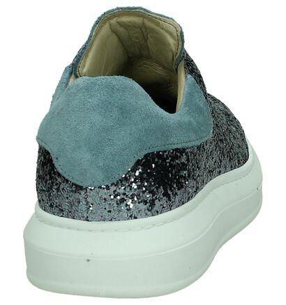 Zilveren Sneakers Two Blue, Blauw, pdp