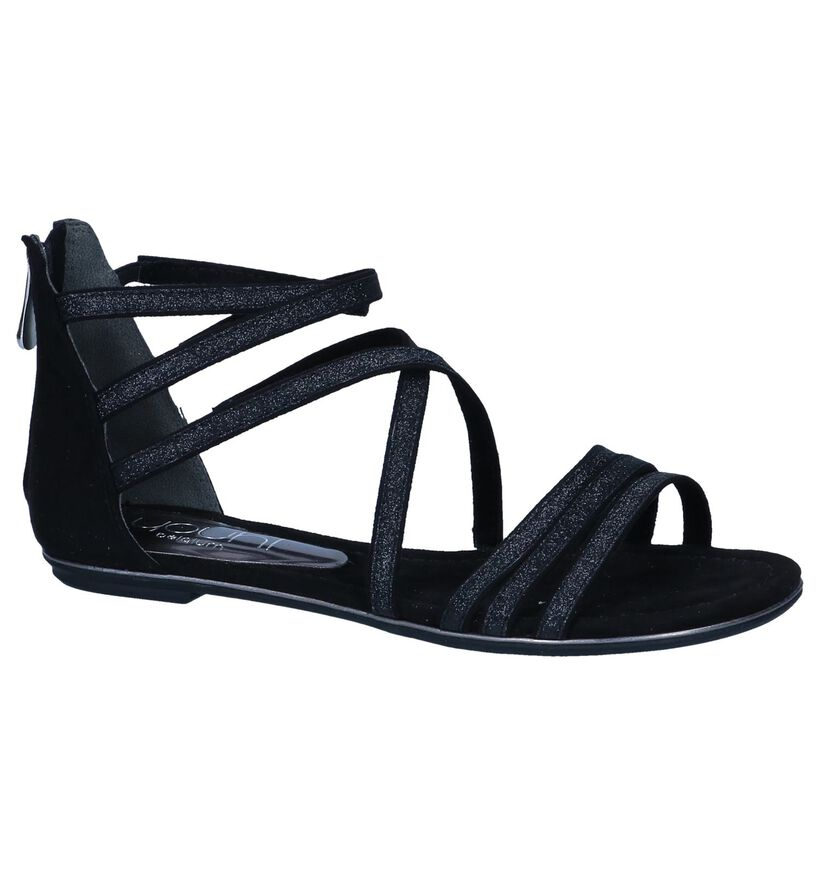Zwarte Sandalen Youh! in stof (242991)