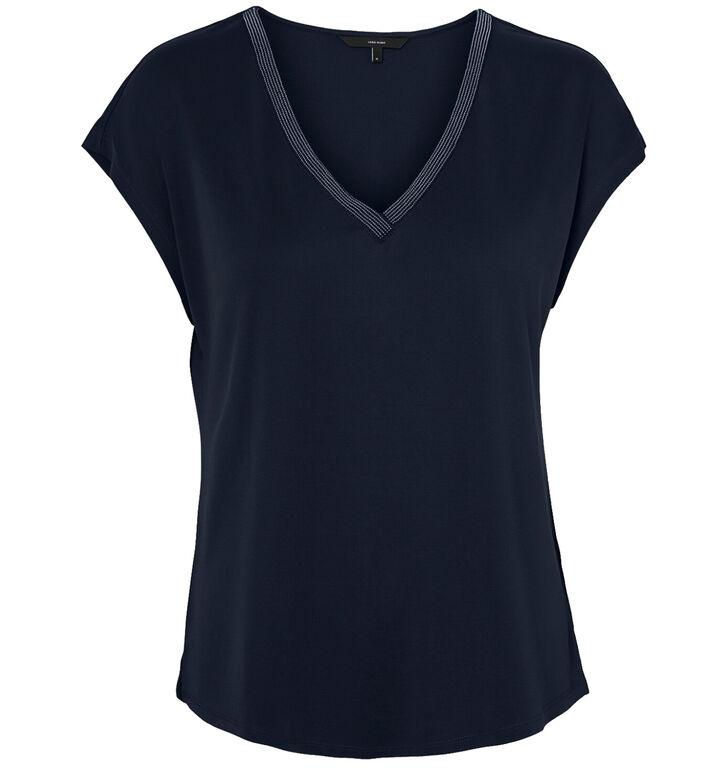 Vero Moda Blauwe T-shirt korte mouwen