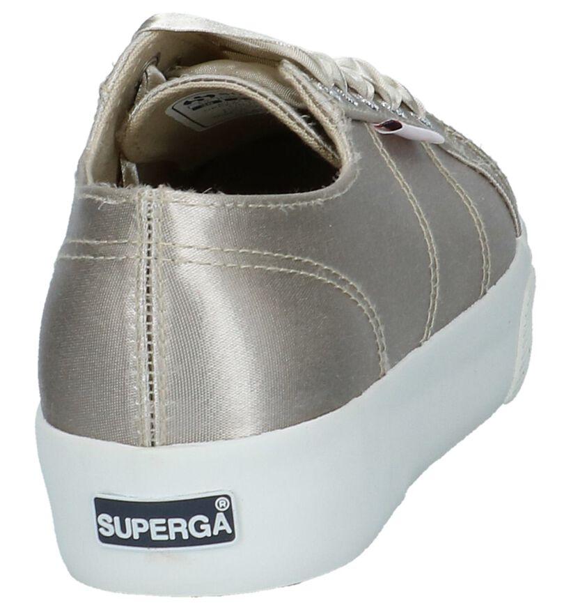 Beige Superga Flatform Sneakers in stof (214787)