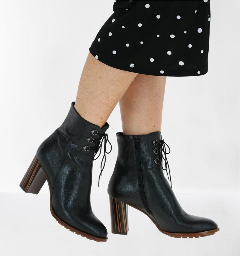 Zinda Zwarte Enkelllaarzen in leer (279616)