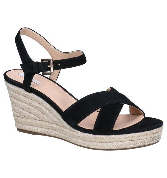 Geox Soleil Zwarte Sandalen