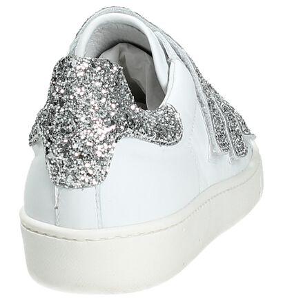 Via Roma by Torfs Witte Sneakers met Klittenband, Wit, pdp