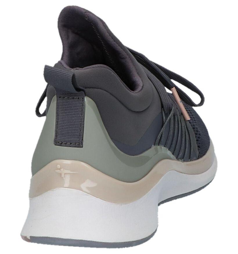 Paarse Slip-on Sneakers Tamaris Fashletics in stof (222150)