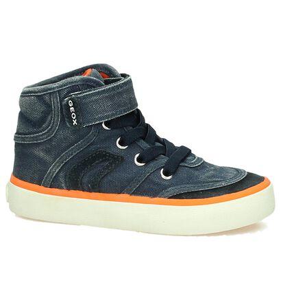 Geox Blauwe Hoge Sneaker, Blauw, pdp