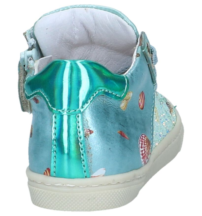 Lichtblauwe Schoentjes STONES and BONES Selt in lakleer (240720)