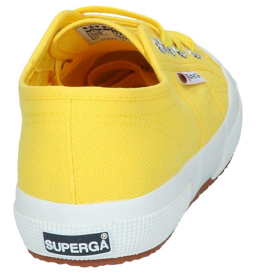 Gele Lage Sneakers Superga in stof (243137)