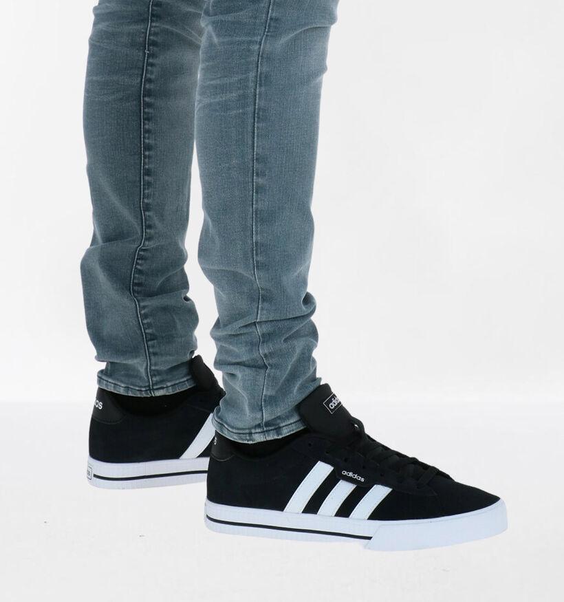 adidas Daily 3.0 Zwarte Sneakers in daim (283370)