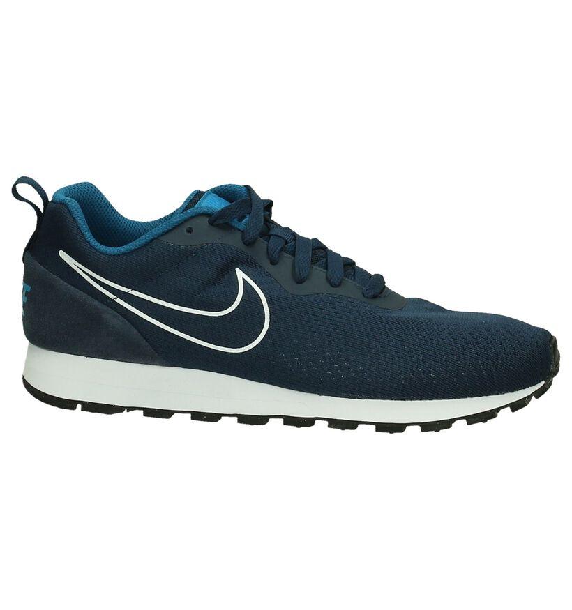 Nike MD Runner Sneaker Donkerblauw in stof (198271)