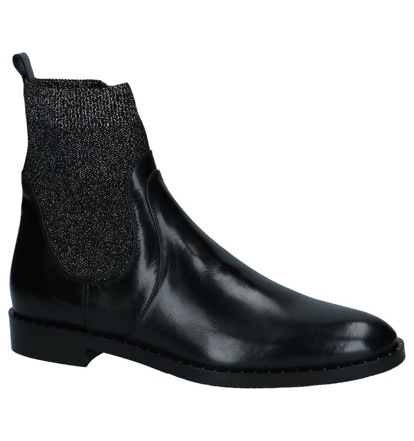 Zwarte Sockboots Maripé in leer (230562)