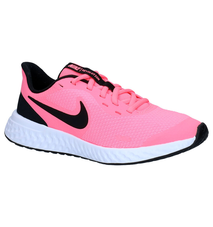 Nike Revolution Zwarte Sneakers in kunstleer (274604)