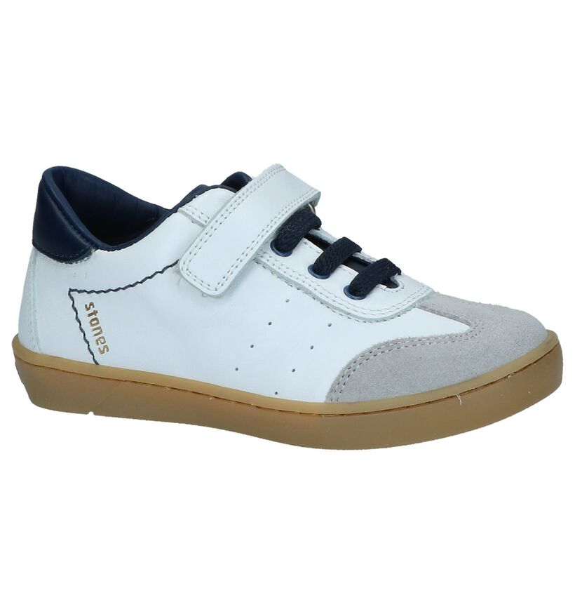 Witte Casual Schoenen STONES and BONES Zello in leer (239804)