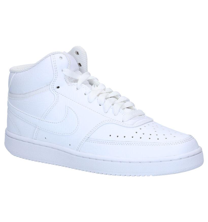 Nike Court Vision Mid Witte Sneakers in leer (283874)