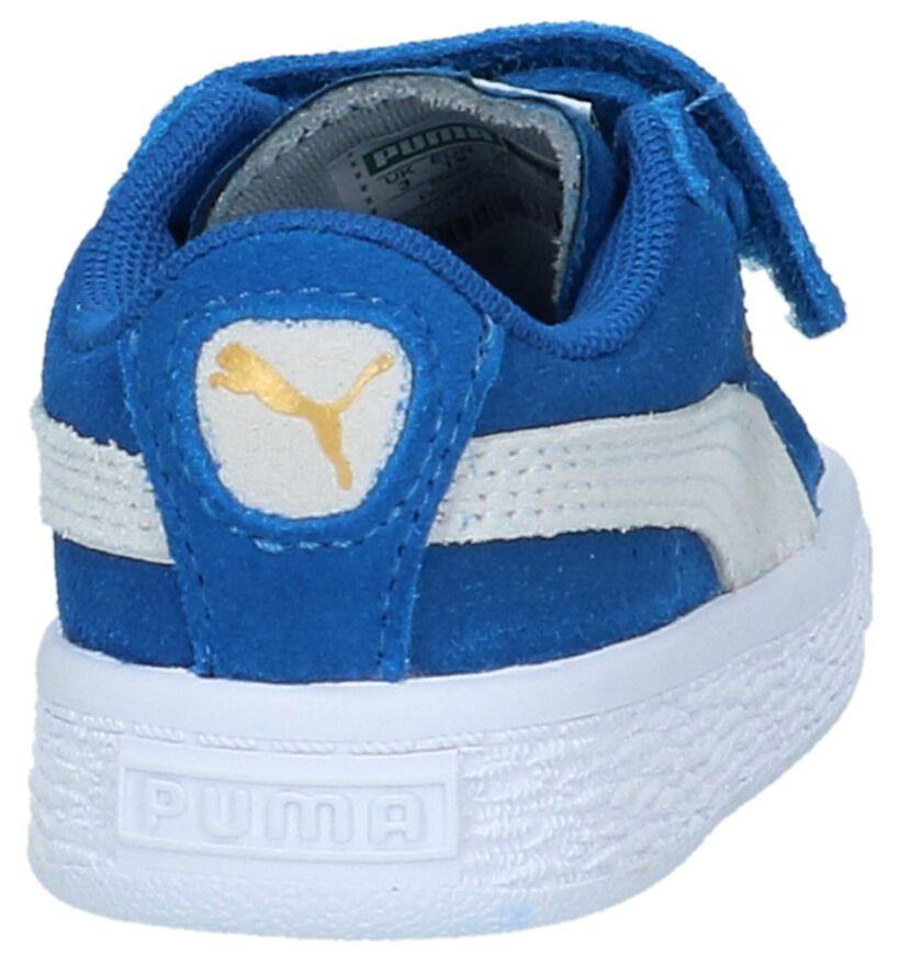 Blauwe Babysneakers Puma Suede Straps in leer (209914)