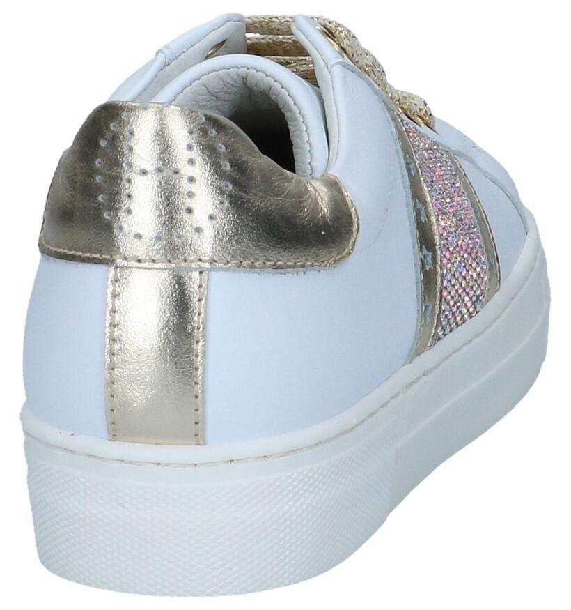 Witte Geklede Sneakers Hoops in leer (243832)