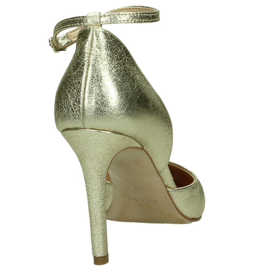 Les Autres Gouden Pump High Heels in leer (195916)