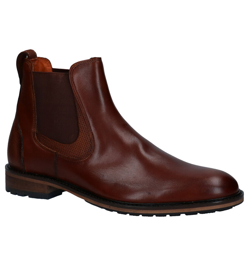 Van Lier Cognac Chelsea Boots in leer (283340)