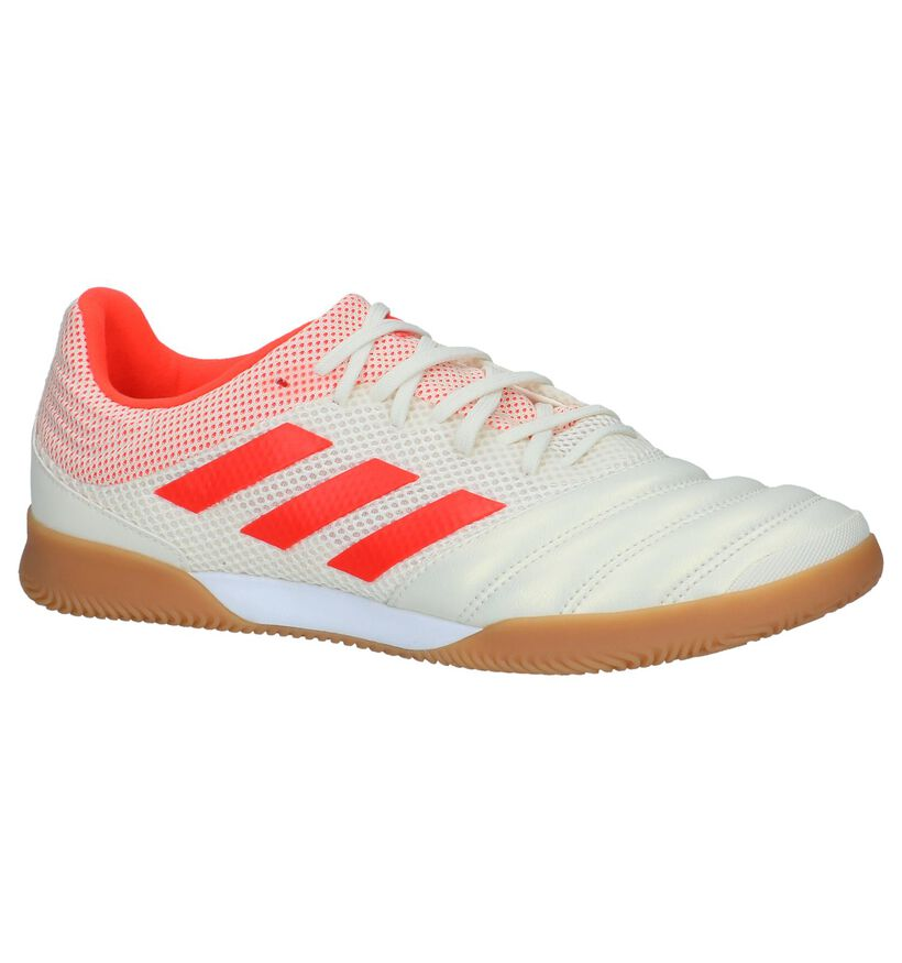 Ecru/Oranje Sportschoenen adidas Copa 19.3 IN Sala in kunstleer (236085)