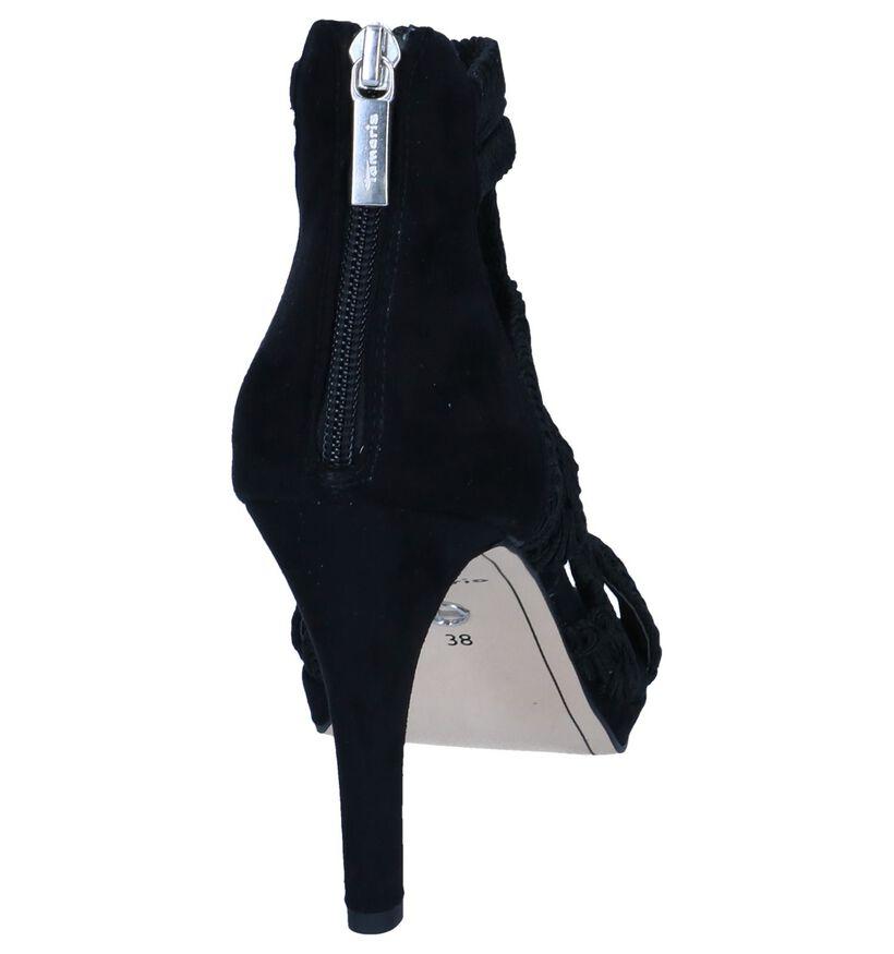 Zwarte Sandalen Tamaris in stof (243550)