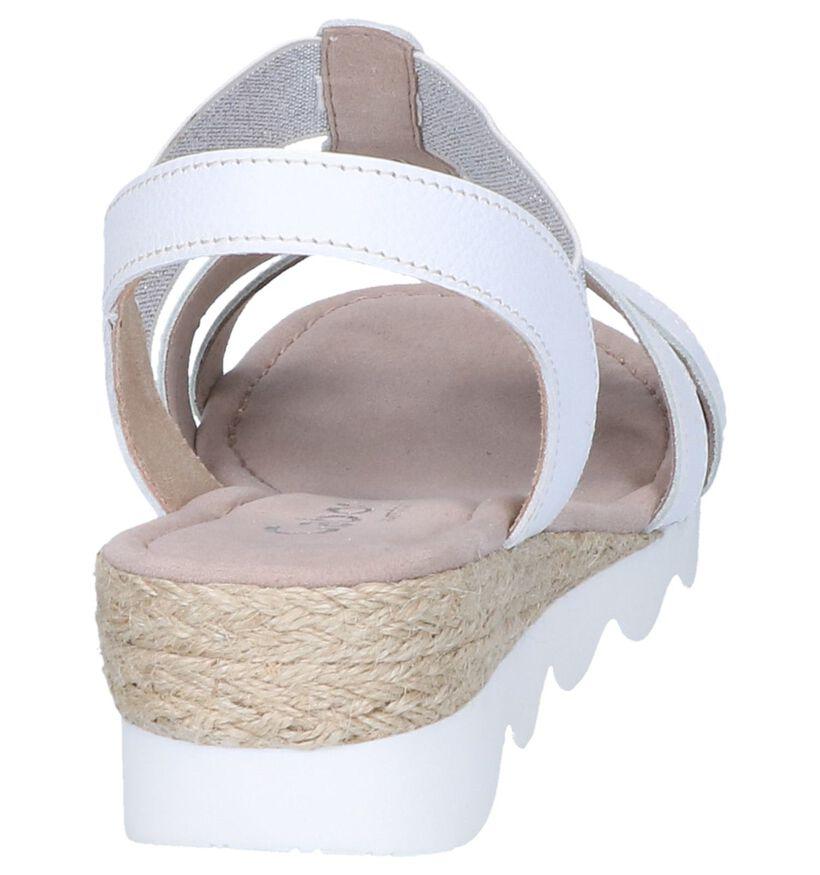 Witte Sandalen Gabor Comfort in leer (245560)