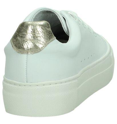 Softwaves Sneakers Beige/Goud met Slangenprint, Wit, pdp