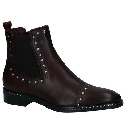 Via Limone by Torfs Donker Bordeaux Chelsea Boots met Studs, Bordeaux, pdp