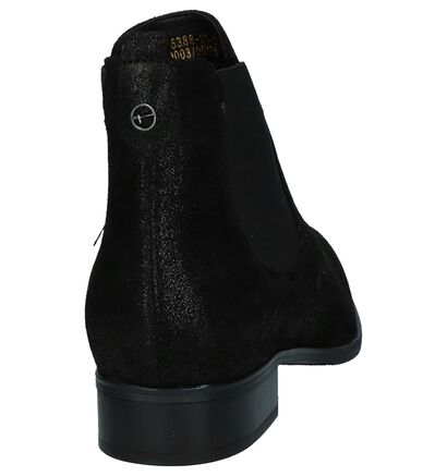 Tamaris Zwarte Chelsea Boots met Glitter, Zwart, pdp