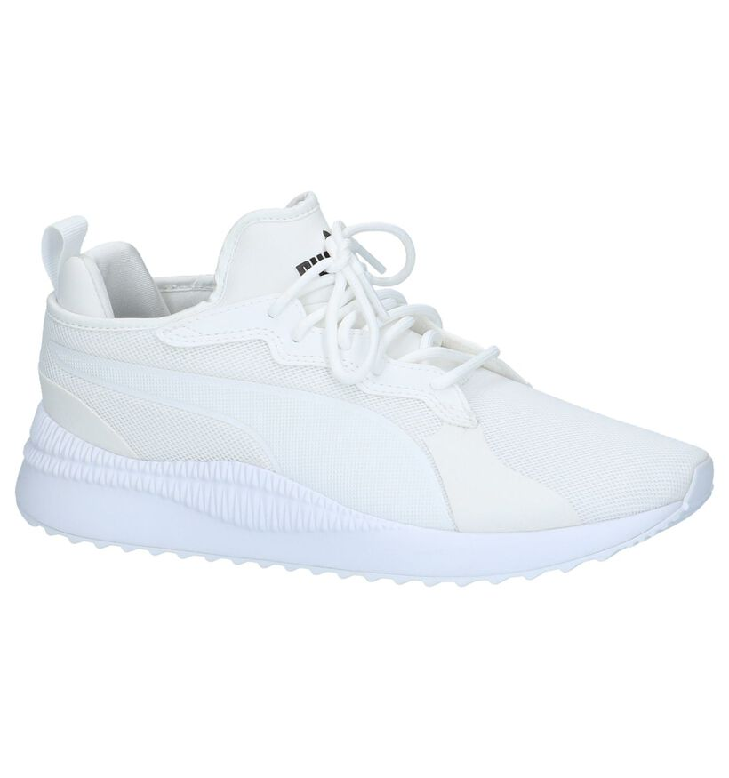 Witte Runner Sneakers Puma Pacer Next in kunstleer (209966)