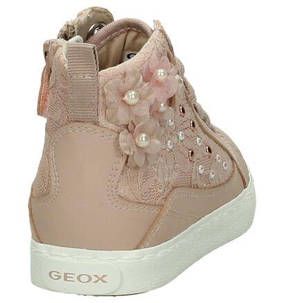 Geox Roze Rits/Veter Sneakers in imitatieleer (190705)
