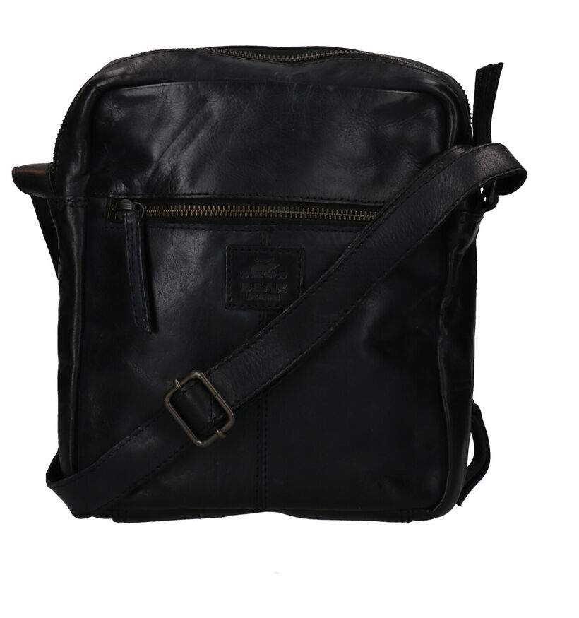 Bear Design Zwarte Crossbody Tas in leer (283606)