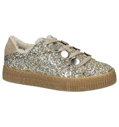 Gouden Lage Geklede Sneakers SVNTY Button Low Butter, Goud, pdp