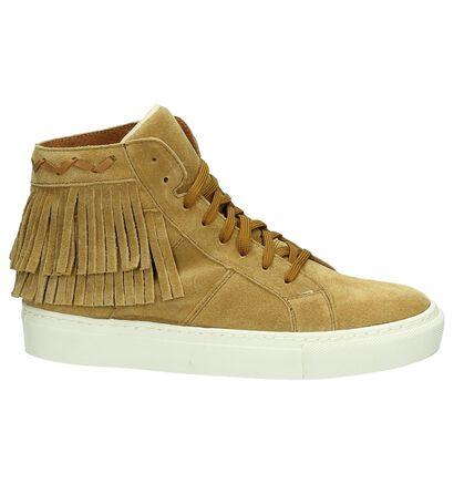Flair Beige Sneakers met Franjes, Cognac, pdp