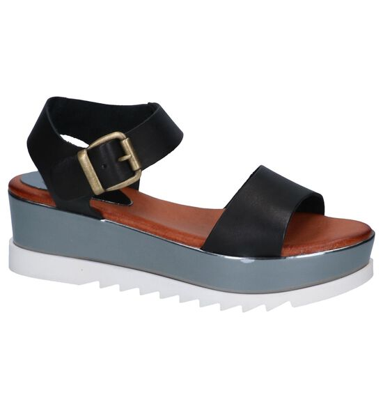 Zwarte Sandalen Hee