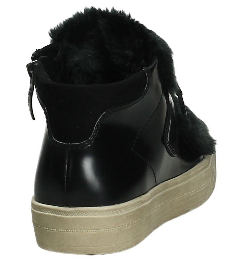 Zwarte Hoge Sneakers Tamaris in kunstleer (203978)