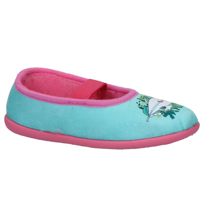 Milo & Mila Sicil by Torfs Turquoise Pantoffels in stof (235558)