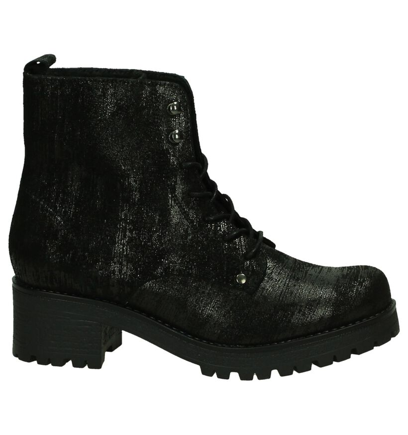 Stoere Zwarte Via Roma by Torfs Boots in leer (206132)