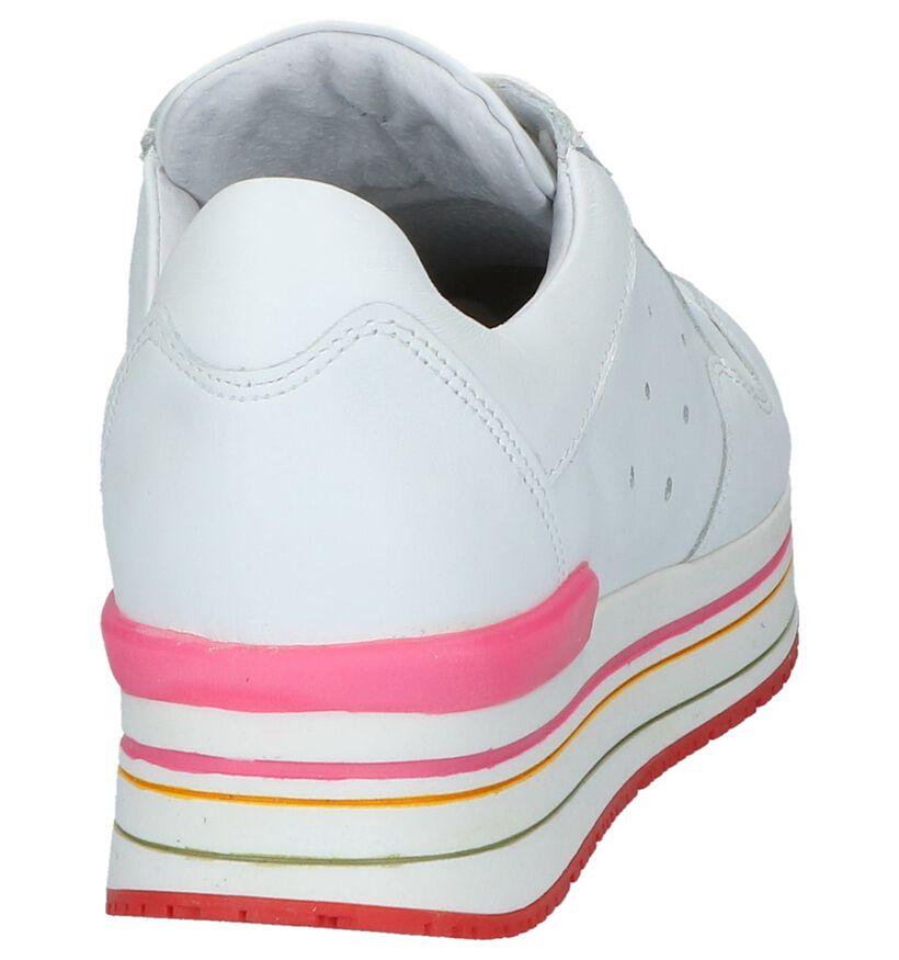 Witte Lage Geklede Sneakers Tango Marike in leer (224194)