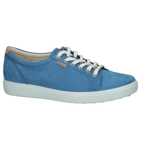 Blauwe Veterschoenen ECCO Soft 7